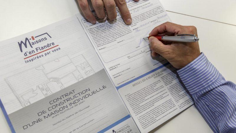 Signature contrat Maisons d'en Flandre